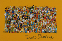 "David Silverman Signed ""The Simpsons"" 12x18 Photo (AutographCOA Hologram) at PristineAuction.com"