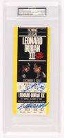 Sugar Ray Leonard & Roberto Duran Signed Authentic Boxing Match Ticket (PSA Encapsulated) at PristineAuction.com