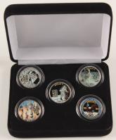 Apollo 11 Anniversary Set of (5) Colorized Quarters at PristineAuction.com