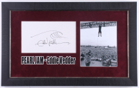 Eddie Vedder Signed Pearl Jam 19x29 Custom Framed Cut Display With Hand-Drawn Sketch (JSA ALOA) at PristineAuction.com