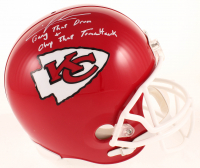 """Chris Jones Signed Chiefs Full-Size Helmet Inscribed """"Bang That Drum + Chop That Tomahawk"""" (Beckett COA) at PristineAuction.com"""
