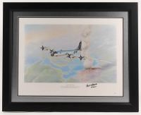 "Paul Tibbets Signed ""Atomic Warfare is Born"" 25x31 Custom Framed Print Display Inscribed ""Pilot"" (JSA Hologram) at PristineAuction.com"