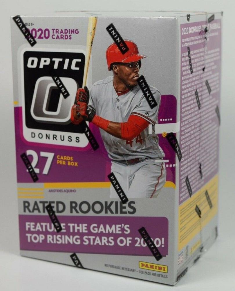 2020 Donruss Optic Baseball Blaster Box of (27) Cards at PristineAuction.com