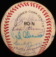 Dodger Greats ONL Baseball Signed by (21) with Leo Durocher, Don Drysdale, Sandy Koufax, Billy Herman, Pee Wee Reese, Duke Snider (Beckett LOA) at PristineAuction.com