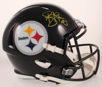 Troy Polamalu Signed Steelers Full-Size Speed Helmet (Beckett COA) at PristineAuction.com