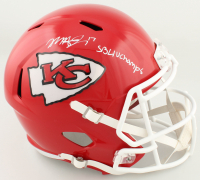 """Mecole Hardman Signed Chiefs Full-Size Speed Helmet Inscribed """"SB LIV Champs"""" (Beckett COA) at PristineAuction.com"""