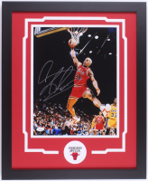 Dennis Rodman Signed Bulls 18.25x22.25 Custom Framed Photo Display (JSA COA) at PristineAuction.com