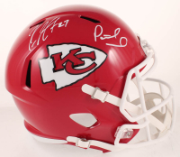 Patrick Mahomes & Kareem Hunt Signed Chiefs Full-Size Speed Helmet (JSA COA) at PristineAuction.com
