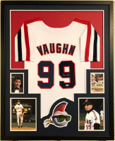 "Charlie Sheen Signed ""Major League"" Indians 34x42 Custom Framed Jersey (Beckett COA) at PristineAuction.com"
