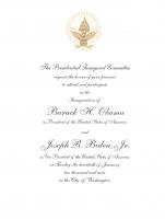 Barack Obama & Joe Biden 2009 Inauguration Invitation 8x6 Letter at PristineAuction.com