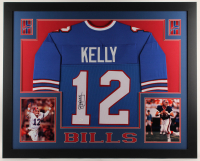 Jim Kelly Signed 35x43 Custom Framed Jersey (JSA COA) at PristineAuction.com