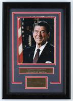 Ronald Reagan 14x20 Custom Framed Photo Display (See Description) at PristineAuction.com