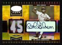 Bob Gibson 2004 Leaf Certified Cuts Marble Material Blue Number #247 LGD Jersey at PristineAuction.com