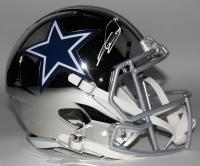 CeeDee Lamb Signed Cowboys Full-Size Chrome Speed Helmet (Fanatics Hologram) at PristineAuction.com