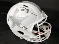 Deion Sanders Signed Cowboys Full-Size Speed White Custom Helmet (Beckett COA) at PristineAuction.com
