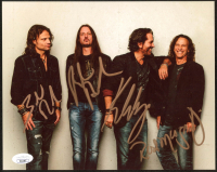 Winger 8x10 Photo Band-Signed by (4) With Kip Winger, Reb Beach, Rod Morgenstein & John Roth (JSA COA) at PristineAuction.com