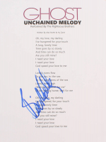 """Bill Medley Signed """"Ghost"""" Unchained Melody 8x11 Lyric Page (AutographCOA COA) at PristineAuction.com"""