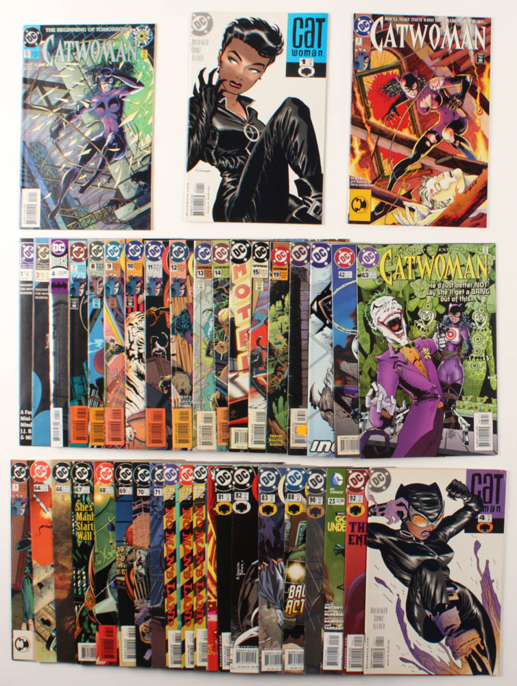 "Lot of (40) 1989-2005 ""Catwoman"" DC Comic Books at PristineAuction.com"