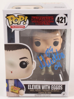 "Millie Bobby Brown Signed ""Stranger Things"" #421 Eleven With Eggos Funko Pop! Vinyl Figure Inscribed ""011"" (Beckett COA) at PristineAuction.com"