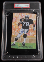 Art Shell Signed LE 1989 Goal Line Art Collectors Card (PSA Encapsulated) at PristineAuction.com