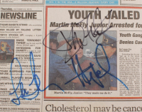 "Lea Thompson, Donald Fullilove & Huey Lewis Signed ""Back to the Future"" USA Today Replica Prop Newspaper (AutographCOA Hologram) at PristineAuction.com"