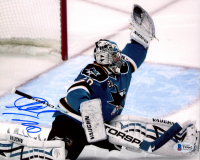 Evgeni Nabokov Signed Sharks 8x10 Photo (Beckett COA) at PristineAuction.com