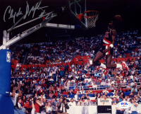 Clyde Drexler Signed Trail Blazers 8x10 Photo (PSA COA) at PristineAuction.com