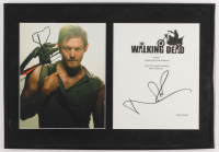 """Norman Reedus Signed """"The Walking Dead"""" 13.5x19.5 Custom Framed TV Show Script Cover Display (AutographCOA LOA) at PristineAuction.com"""
