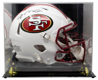 Joe Montana Signed 49ers Full-Size Matte White Speed Helmet With Display Case (JSA COA) at PristineAuction.com