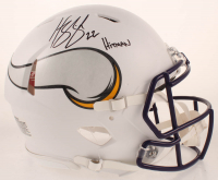 "Harrison Smith Signed Vikings Full-Size Authentic On-Field Matte White Speed Helmet Inscribed ""Hitman"" (Beckett COA) at PristineAuction.com"