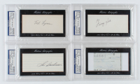 Lot of (4) Baseball Hall of Famer Signed Cuts with Jim Palmer, George Kell, Lou Boudreau & Ted Lyons (PSA Encapsulated) at PristineAuction.com