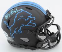 Barry Sanders Signed Lions Eclipse Alternate Speed Mini Helmet (Beckett COA & Schwartz Hologram) at PristineAuction.com