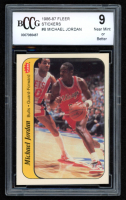 Michael Jordan 1986-87 Fleer Stickers #8 (BCCG 9) at PristineAuction.com