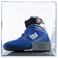 Mike Tyson Signed Boxing Shoe with Display Case (PSA COA) at PristineAuction.com
