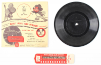 Vintage 1955 Walt Disney's Mickey Mouse Club Newsreel & Vinyl Record at PristineAuction.com