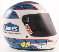 Jimmie Johnson Signed Lowe's NASCAR Full-Size Helmet (JSA COA) at PristineAuction.com