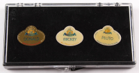 Set of (3) Vintage Walt Disney Pin Collection with Mickey, Donald, & Pluto at PristineAuction.com