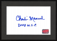 Charlie Manuel Signed 5x7 Custom Matted Cut (YSMS COA) at PristineAuction.com