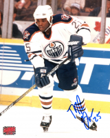 Mike Grier Signed Oilers 8x10 Photo (YSMS COA) at PristineAuction.com