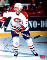 Theo Fleury Signed Canadiens 8x10 Photo (YSMS COA) at PristineAuction.com