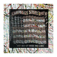 "Steve Kaufman Signed ""Campbell's Soup Flag"" Limited Edition 17x17 Hand Pulled Silkscreen Mixed Media on Canvas at PristineAuction.com"