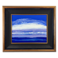 "Wyland Signed ""Painted Clouds"" 29x25 Original Painting on Board at PristineAuction.com"