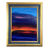 "Wyland Signed ""Water Planet 19"" 24x30 Custom Framed Original Painting on Canvas at PristineAuction.com"