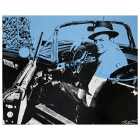 "Peter Tunney Signed ""Frank Sinatra, Sitting in Car (Color)"" 40x32 Original Mixed Media at PristineAuction.com"