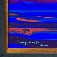 """Wyland Signed """"Sea Watch"""" 33x46 Custom Framed Original Painting on Board at PristineAuction.com"""