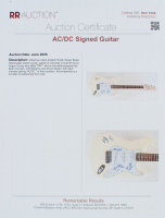 """Brian Johnson, Angus Young, Cliff Williams & Simon Wright Signed 41"""" Electric Guitar Inscribed """"TNT"""" (JSA LOA) at PristineAuction.com"""