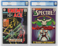 "Lot of (2) CGC Graded ""Showcase"" DC Comic Books with 1965 Enemy Ace #57 (CGC 3.5) & 1966 Spectre #64 (CGC 4.0) at PristineAuction.com"
