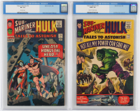 "Lot of (2) CGC Graded ""Tales To Astonish"" Marvel Comic Books with 1966 Hulk #75 (CGC 3.0) & 1966 Hulk #76 (CGC 3.5) at PristineAuction.com"