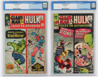 "Lot of (2) CGC Graded ""Tales To Astonish"" Marvel Comic Books with 1965 Hulk / Giant Man #64 (CGC 5.0) & 1966 Hulk / Giant Man #67 (CGC 3.5) at PristineAuction.com"