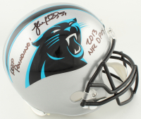 "Luke Kuechly Signed Panthers Full-Size Helmet Inscribed ""Keep Pounding!"" & ""2013 NFL DPOY"" (Beckett COA) at PristineAuction.com"